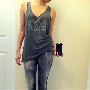Rock & Republic Grey Tie Dye Style Skinny Jeans.